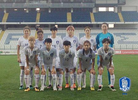 女子サッカー>韓国代表チーム、...