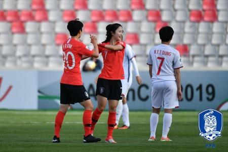 女子サッカー>韓国、フィリピン...