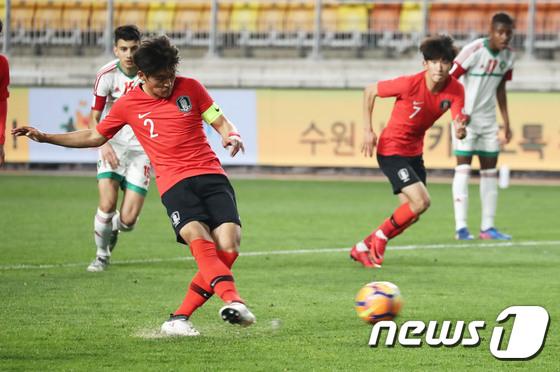 サッカー韓国U-20代表主将ファン・テヒョン、目標は4強 「チーム雰囲気は最高」