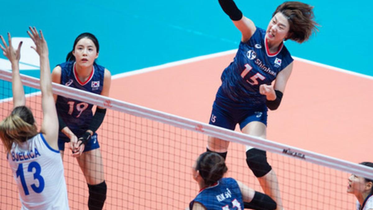 """<バレーボール>韓国女子代表、VNL第2戦""""世界1位""""セルビアに逆転負け"""