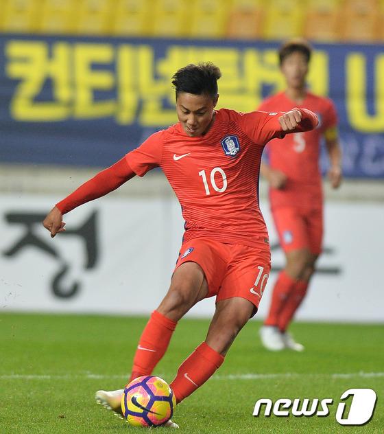ペク・スンホ2ゴール、U-20韓国...