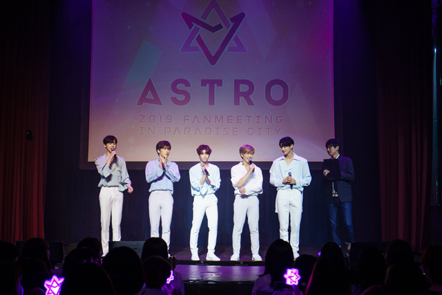 「ASTRO」、「FANMEETING in PARADISE CITY」 の様子を大公開!